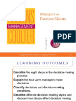 MGT Lec 4 - Managers as Decision Makers