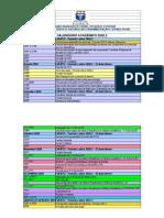 Calendario academico 2020.2