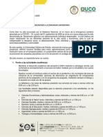 Comunicado oficial (UCO)