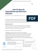 Aprende sobre los tipos de transmisiones que tienen los vehículos - Interamericana Norte