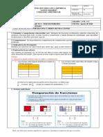guia de aprendizaje comparacion y orden de fracciones