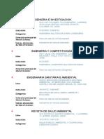 REVISTAS PARA PUBLICAR INVESTIGACIONES