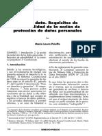 Hábeas_data.Requisitos