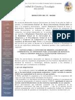 Convocatoria Auxiliares de Docencia Fac. Cs y Tecnologia 2020