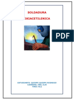 TMEC412 PROYECTO SOLDADURA OXIACETILENICA