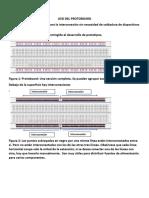 protoboard y pelacables uso