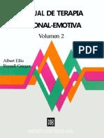 Albert Ellis Y Dryden Windy - Manual De Terapia Racional Emotiva (Vol - 2)
