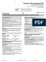 FACTEURS RHUMATOÏDES (RF) Test immunoturbidimétrique