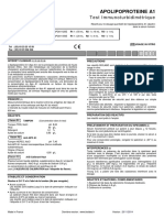 APOLIPOPROTEINES A1-B Test immunoturbidimétrique 1