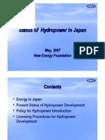 HYDROPOWER STATUS IN JAPAN