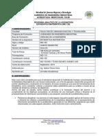 Programa Analítico - Estadística Matemática