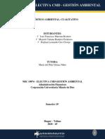 DIAGNÓSTICO AMBIENTAL CUALITATIVO -CENTRAL PECUARIA