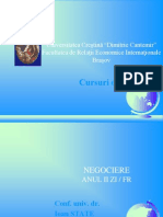 Negociere Comerciala Internationala - Curs - UCDC Brasov