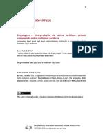 BITTAR, C. Linguagem e interpretação de textos juridicos. Realismo juridico
