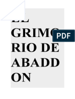 EL GRIMORIO DE ABADDON , Ttrad.español ferdinad stevenson
