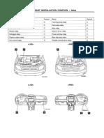 Pajero IO, Pinin - 2000 - Caixas de Junções, Relés e Fusíveis, Derivação de Positivos - Diagrama Elétrico