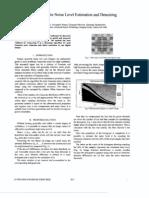 Fast Method for Noise Level Estimation and Denoising