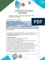 Formato Guia de actividades y Rúbrica de evaluación - Fase 1 -Revisión de conceptos