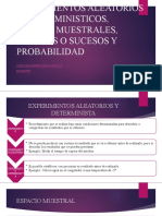 EXPERIMENTOS ALEATORIOS Y DETERMINISTICOS, ESPACIO MUESTRALES,