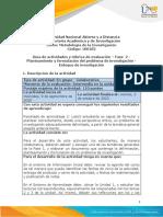 Guía de actividades y rúbrica de evaluación -  Fase 2 - Planteamiento y formulación del problema de investigación - Enfoque de inves