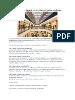 Les différents types de centres commerciaux