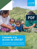 UNICEF Llamado a La Acción
