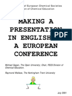 Making a presentation in english at a european