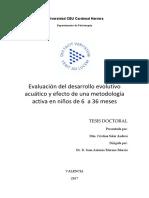 Evaluación del desarrollo evolutivo acuático y efecto de una metodología activa en niños de 6 a 36 meses_Tesis_Cristina Salar Andreu