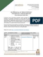 doc. inscripción y reinscripción 2020-2021