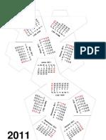 calendario dodecaedro - 2011m
