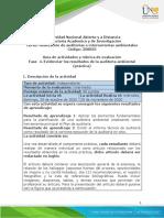 Guía de actividades y rúbrica de evaluación - Unidad 2 - Fase 4. Evidenciar los resultados de la auditoría ambiental (práctica)