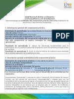 Guía para el desarrollo del componente práctico - Unidad 2 - Fase 3 - Llevar a cabo la auditoría ambiental (práctica)