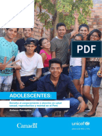 UNICEF PER Estudio Salud Adolescente