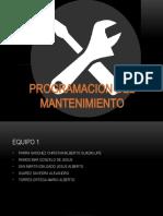 PROGRAMACION DEL MANTENIMIENTO