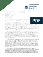 2020 08-31 Homeland Security Letter Ted Wheeler Portland