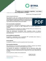BYMA COM17720 Nuevos Bonos Emitidos Rep Arg Ley LOCAL Negociacion VN a Entregar