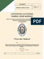 FORMATO DE PERFIL DE TESIS