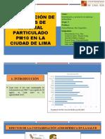 Identificación de fuentes de material particulado PM10 en la ciudad de Lima