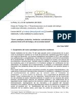 Neffa (2019) Nuevo paradigma productivo, tendencias contradictorias del trabajo y el empleo.