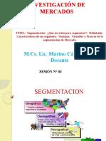 TEMA3 SEGMENTACION , INVESTIGACION DE MERCADOS.