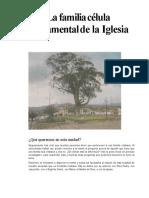 La familia célula fundamental de la Iglesia.doc