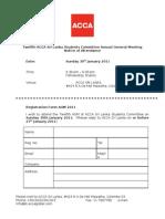 Agm 2011- Registration