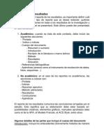 REPORTE DE LOS RESULTADOS