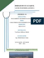 Tarea #4 CARACTERIZACION DE RESIDUOS SOLIDOS