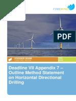 EN010021-001535-Forewind - DVII - Appendix 7 Method Statement for Horizontal directional Drill.pdf
