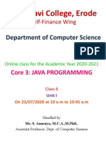 6. Java  Unit I - 23-7  Java Overview part 2