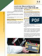 8-8 Messverfahren - Erdungsmessungen nach VDE 0185-305(1)