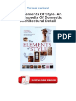 The Elements Of Style An Encyclopedia Of Domestic Architectural Detail PDF