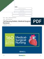 160 Nursing Bullets_ Medical-Surgical Nursing Reviewer • Nurseslabs
