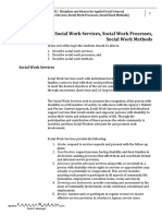 The Social work services, processes, and methods